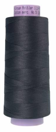 Mettler Silk Finish 50wt Cotton Thread 2000yd/1829M Dark Charcoal