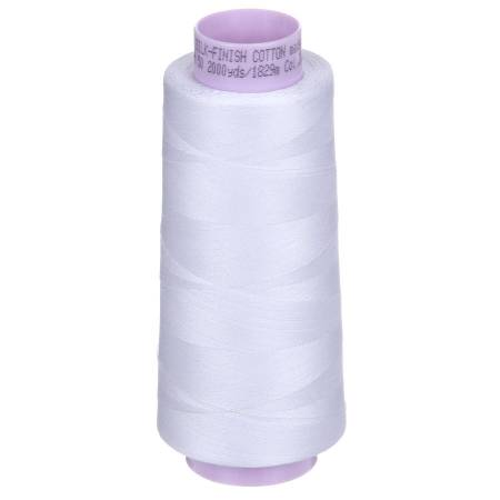 Mettler Silk Finish 50wt Cotton Thread 2000yd/1829M White