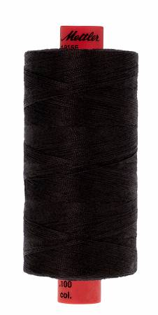 Metrosene Poly Thread 50wt 1000m/1094yds Black Old Number 1155-0003