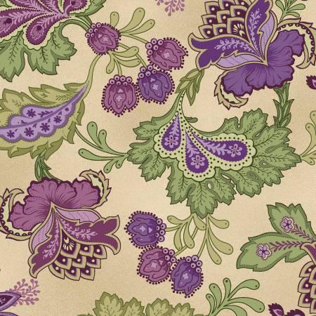 Aubergine Antique Elegant Paisley