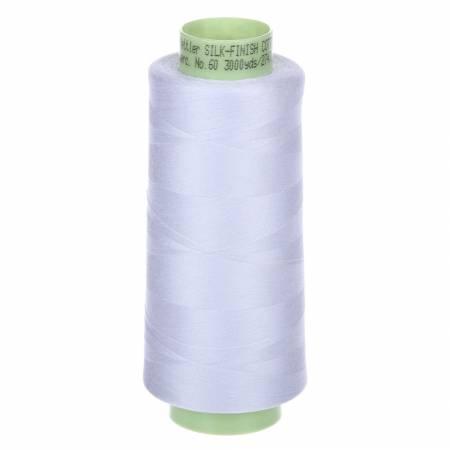 Silk Finish 60wt Cotton Thread 3000yd/2743M White
