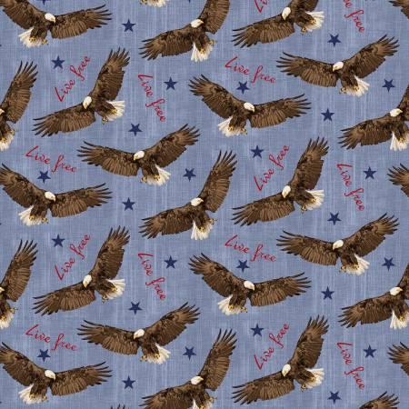 Live Free - Flying Eagle Blue