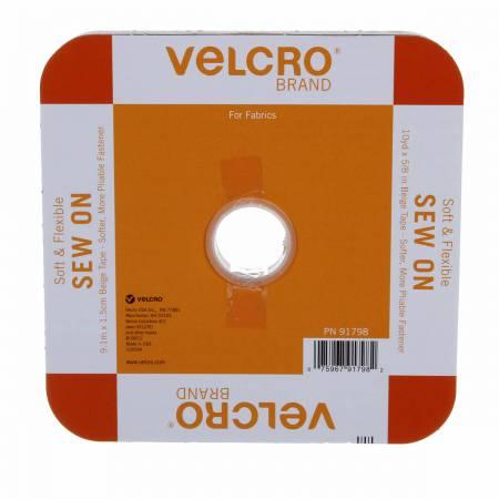 Velcro Soft & Flex Sew-In Beige 5/8in