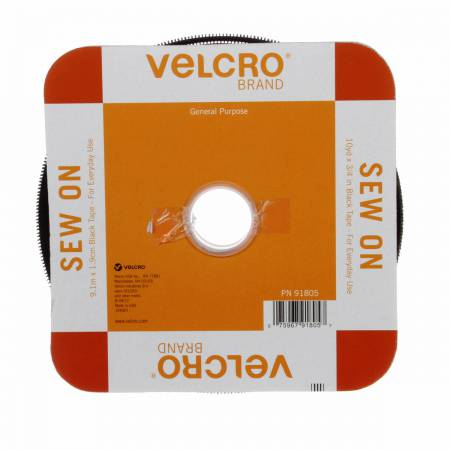 Velcro Regular Duty Tape Black 3/4in x 1mt