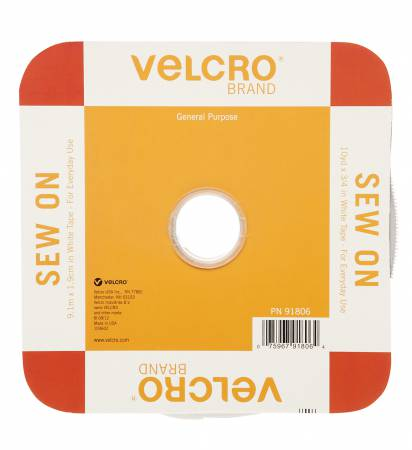 Velcro Regular Duty Tape - White 3/4in