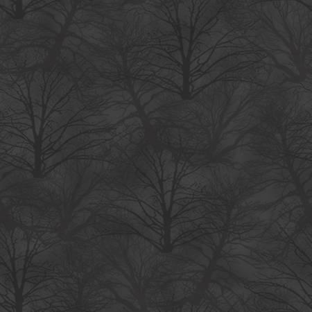 Holiday Heartland - Dark Grey Trees Tonal Tossed