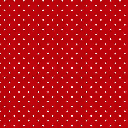 Sewing Mends the Soul Red Small Dots