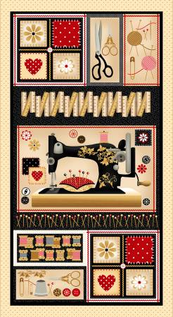 Cream Banner Sewing Panel by Henry Glass 9239P - 44 * (113)