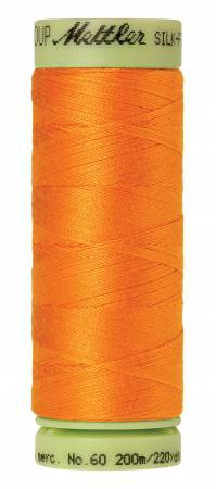 Silk-Finish 60wt Solid Cotton Thread 220yd/200M Pumpkin