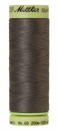 Silk-Finish 60wt Solid Cotton Thread 220yd/200M Dark Charcoal