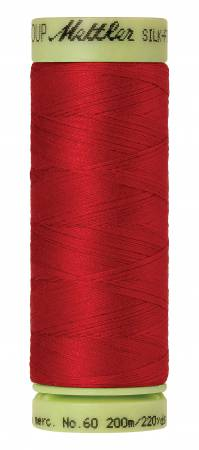 Silk-Finish 60wt Solid Cotton Thread 220yd/200M Country Red