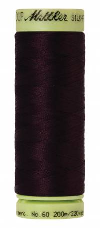 Silk-Finish 60wt Solid Cotton Thread 220yd/200M Mahogany