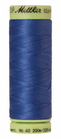 Silk-Finish 60wt Solid Cotton Thread 220yd/200M Cobalt Blue