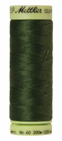 Silk-Finish 60wt Solid Cotton Thread 220yd/200M Cypress