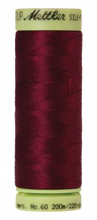 Silk-Finish 60wt Solid Cotton Thread 220yd/200M Cranberry