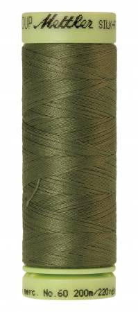 Silk-Finish 60wt Solid Cotton Thread 220yd/200M Seagrass