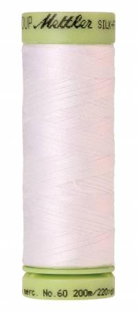 2000-White, 220 yds, Mettler, Silk-Finish 60wt Solid Cotton Thread
