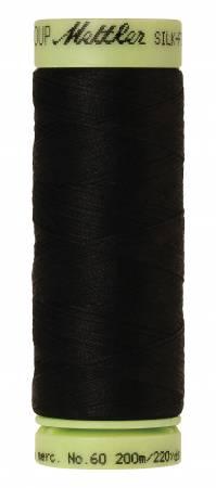 Silk-Finish 60wt Solid Cotton Thread 220yd/200M Black
