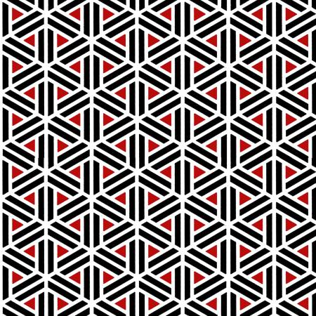 Moroccan Red - Red/Black Geometric