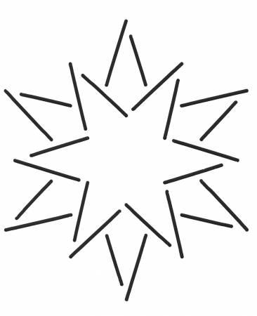 Stencil-12 Point Star