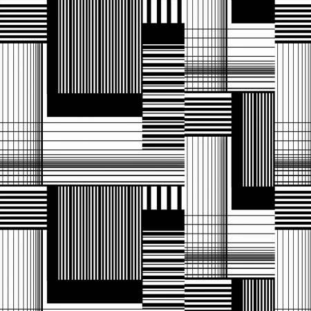Black/White Patchwork Block