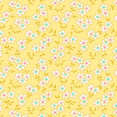 Yellow Multicolored Daisy  - 1930's Reproduction