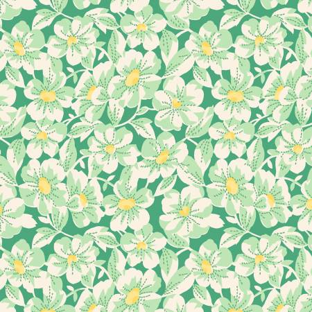Green Large Daisy 1930's Reproduction