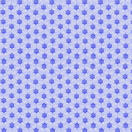Blue Monotone Geometric 1930's Reproduction