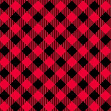 Bias Buffalo Check Red/Black<br/>Henry Glass 9300-89