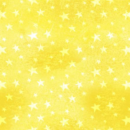 Monkey Business Yellow Stars Children's Fabric Cotton