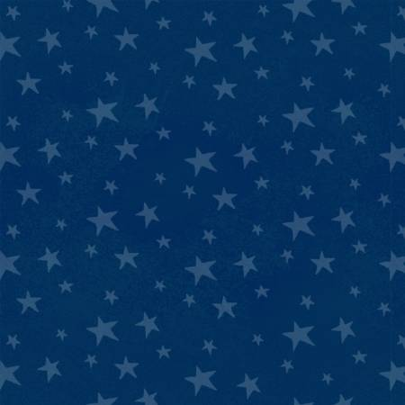 Monkey Business Children's Fabric Navy Stars Cotton Pre-Order