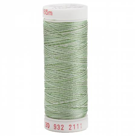 Rayon Thread 2-ply 30wt 400d 180yds Variegated Grass Greens