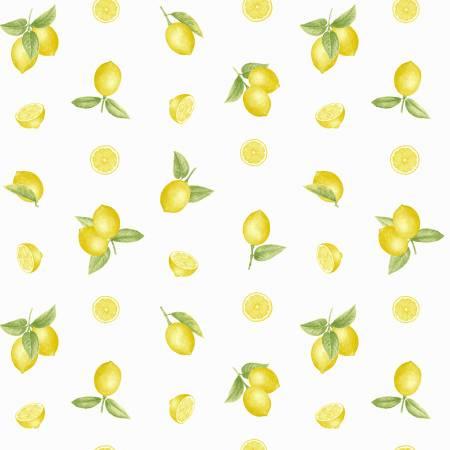 9346-14 Yellow Small Tossed Lemons Just Lemons Henry Glass & Co.