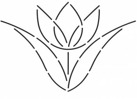 Quilt Stencil Single Tulip