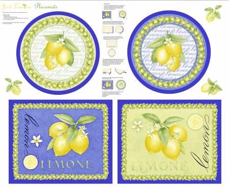 Just Lemons Multi Placemats Panel
