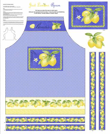 Just Lemons Multi Apron Panel   36in X  44in