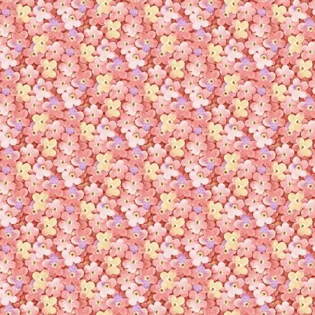 Rose Packed Little Flowers