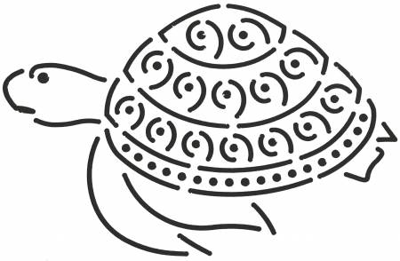 Quilt Stencil Turtle