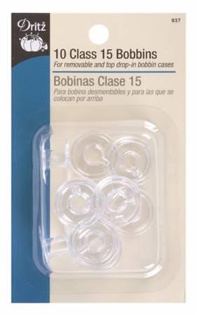 Bobbin Plastic Class 15 Bonus Pack 10ct