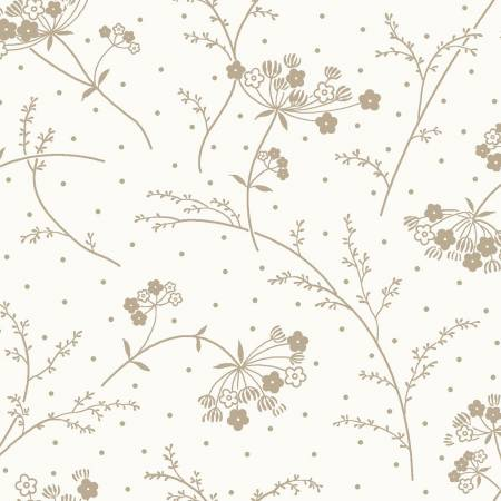 FAB KB BASICS QUEEN ANNE'S LACE TAUPE