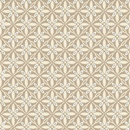 Make Yourself at Home Flower Grid Tan