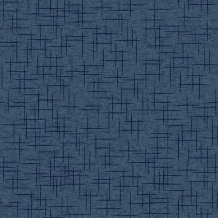 Kimberbell Linen Texture Fabric: Deep Navy