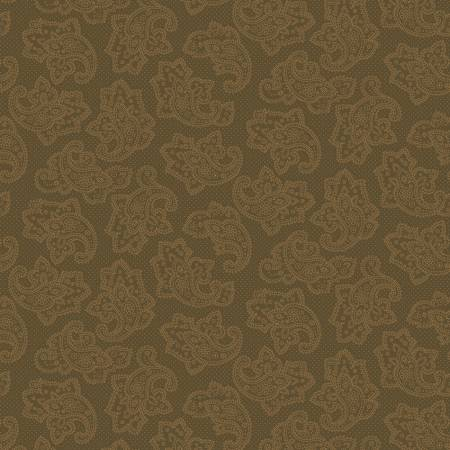 Gratitude & Grace 9402-33 Brown Dotted Paisley