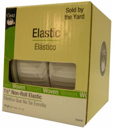 White Non-Roll Elastic 1in SOLD PER YARD