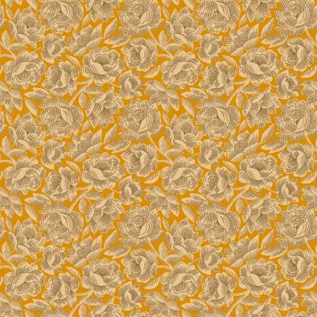 Henry Glass Gratitude & Grace Orange Vintage Floral 9408-30