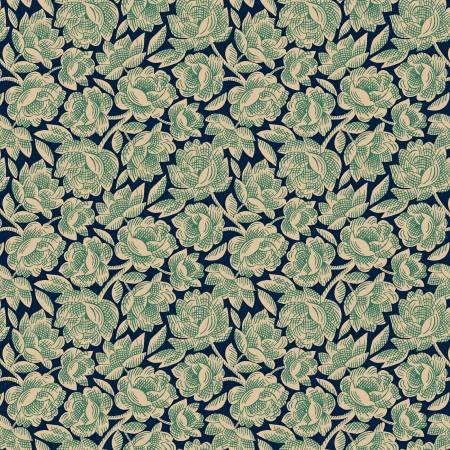 Gratitude & Grace Blue Vintage Floral