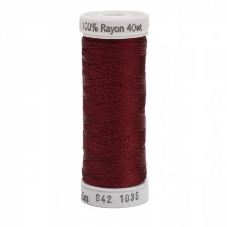Rayon Thread 2-ply 40wt 268d 250yds Dark Burgundy