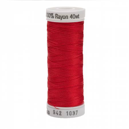 Rayon Thread 2-ply 40wt 268d 250yds Light Red