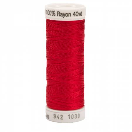 Rayon Thread 2-ply 40wt 268d 250yds True Red