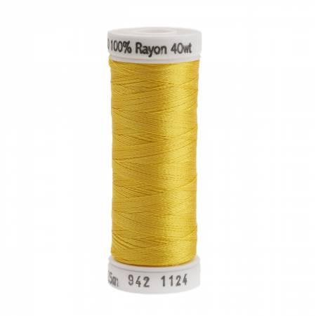Rayon Thread 2-ply 40wt 268d 250yds Sun Yellow